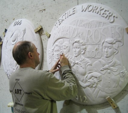 John Kindness designing the monument.