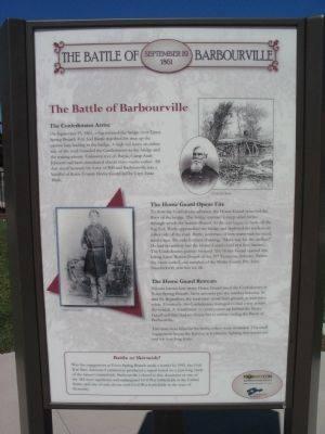 Battle of Barbourville site panel 3