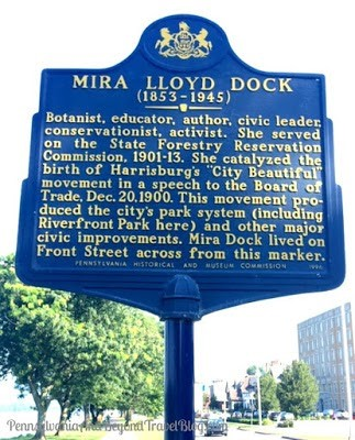 Historical Marker for Mira Lloyd Dock