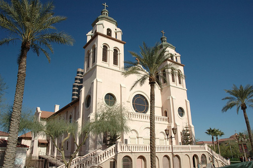 Saint Mary's Basilica was built in 1914 and declared a basilica in 1985. Photo: Wikimedia Commons
