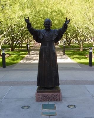 The statue of John Paul II. Photo: Thomas Chris English, via The Historical Marker Database