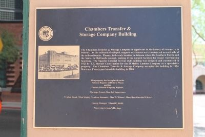 The marker describing the history of the building, which was constructed in 1923.