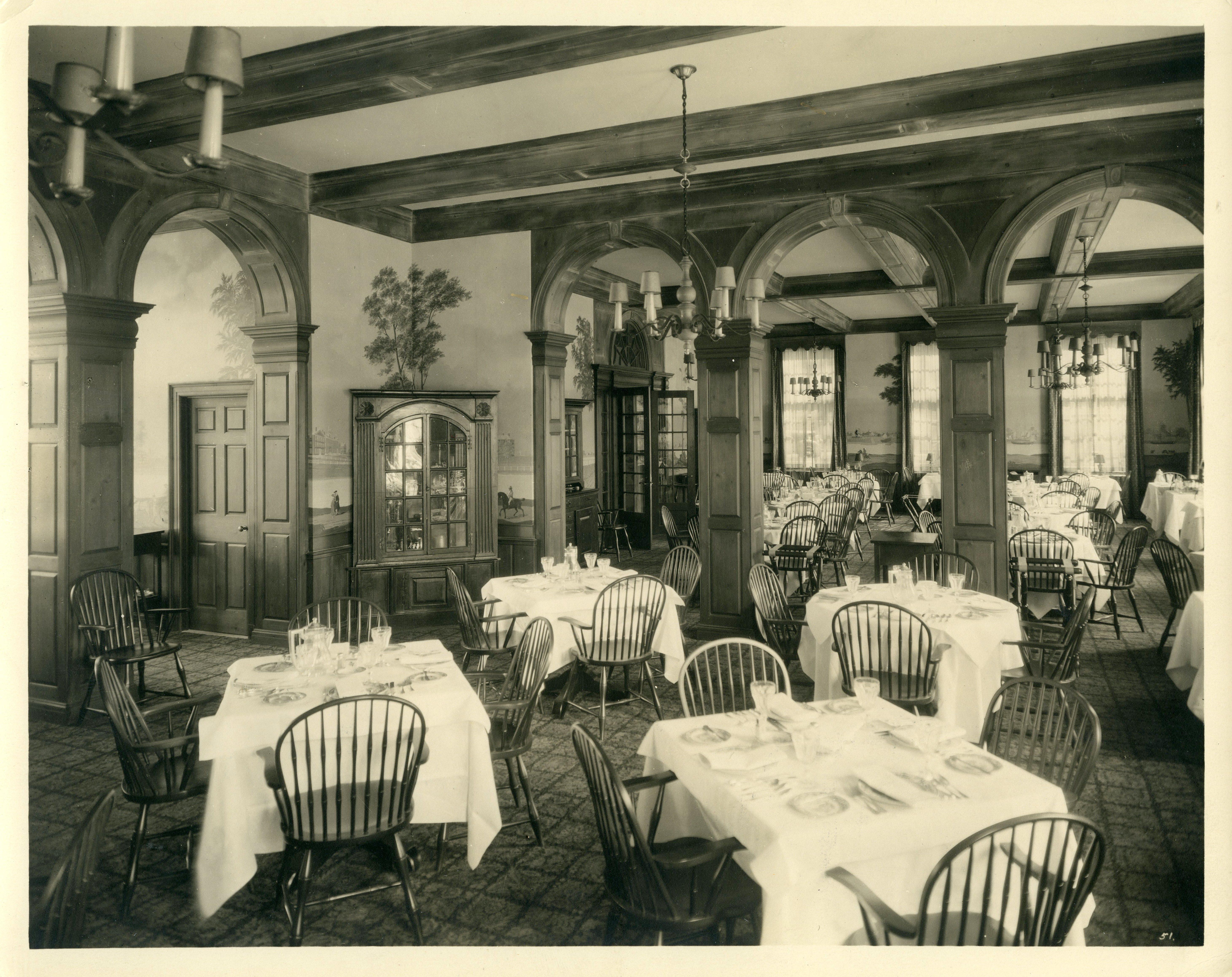 Andover Inn dining room by Benjamin Morse
