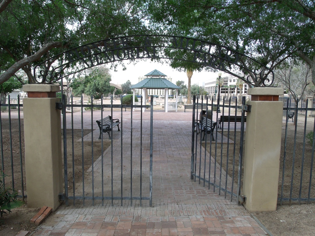 The entrance to the park, which was created in 1988.