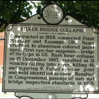 This historical detailing the history of the collapse was placed in 2006.