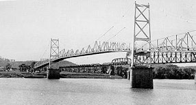 The bridge was the first of its kind when it was completed in 1928.