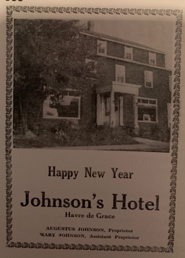 The flyer that was promoting the Johnson's Hotel from December 28th, 1944