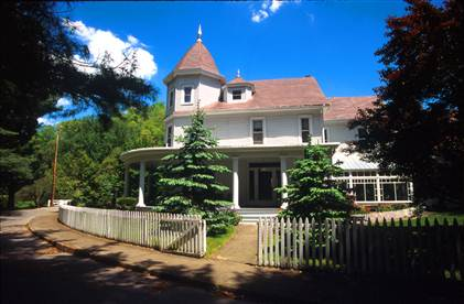 The famous I.T. Mann House, located in Bramwell, West Virginia.