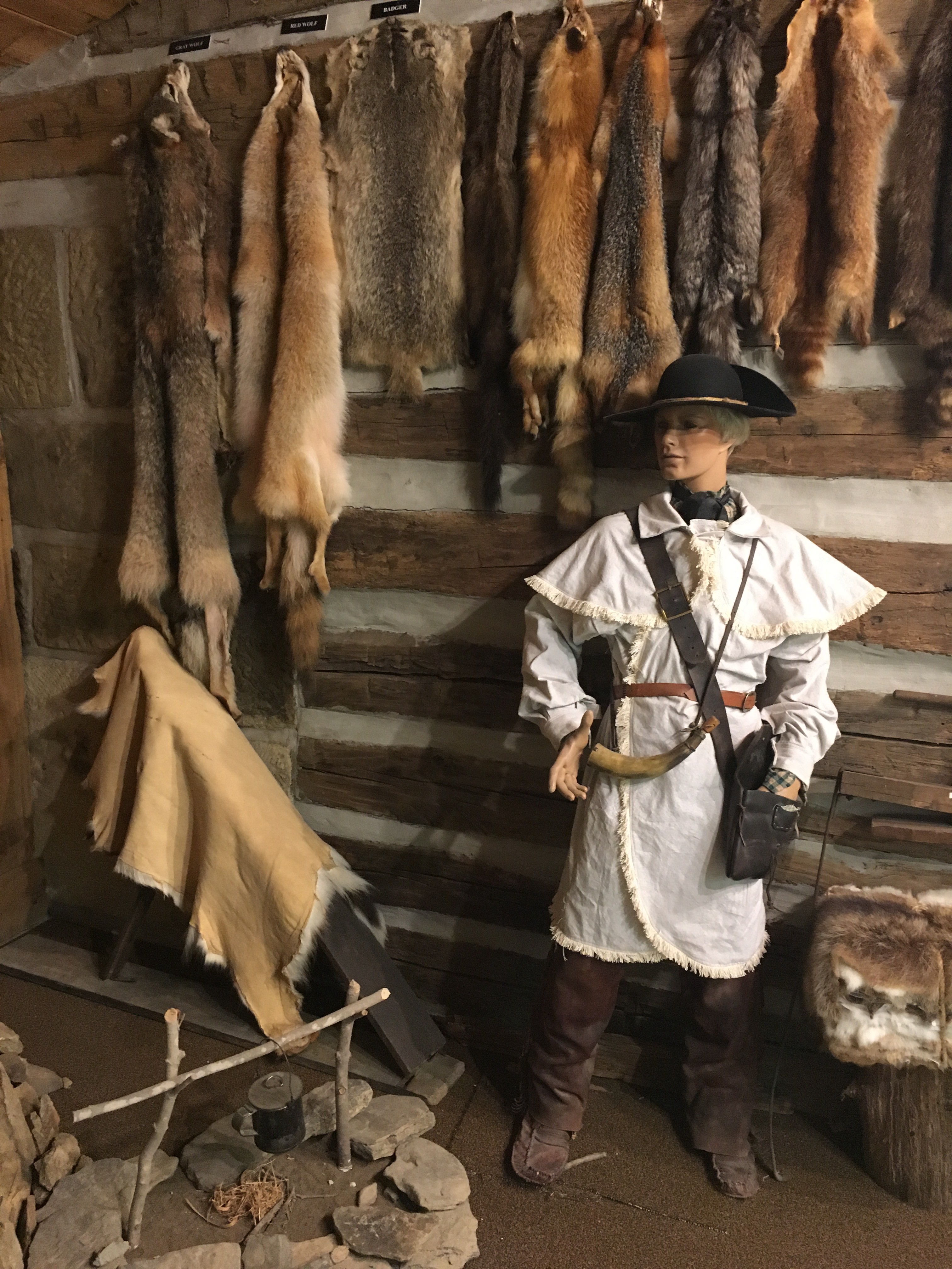 Many French and English fur traders traveled around North America to sell metal tools and other items to Native Americans in exchange for fur pelts.