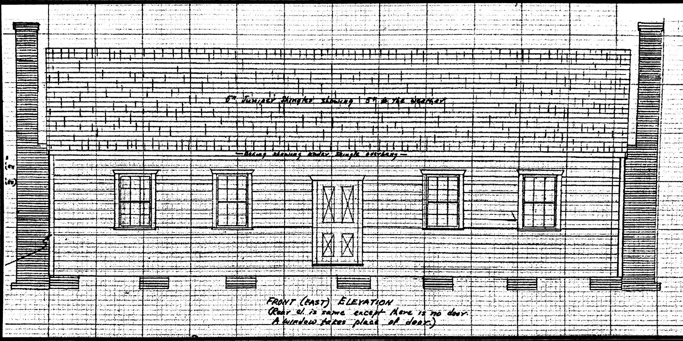 Elevation drawing of the Lake Chapel.