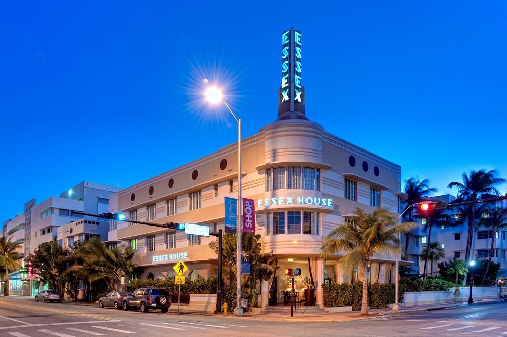 The sun sets on the Nautical Moderne design of the Essex House.