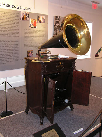 There are lots of exhibits highlighting the beginnings of the recording industry at the Johnson Victrola Museum.