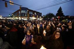 One of the Many Vigils for the Victims of the Shooting