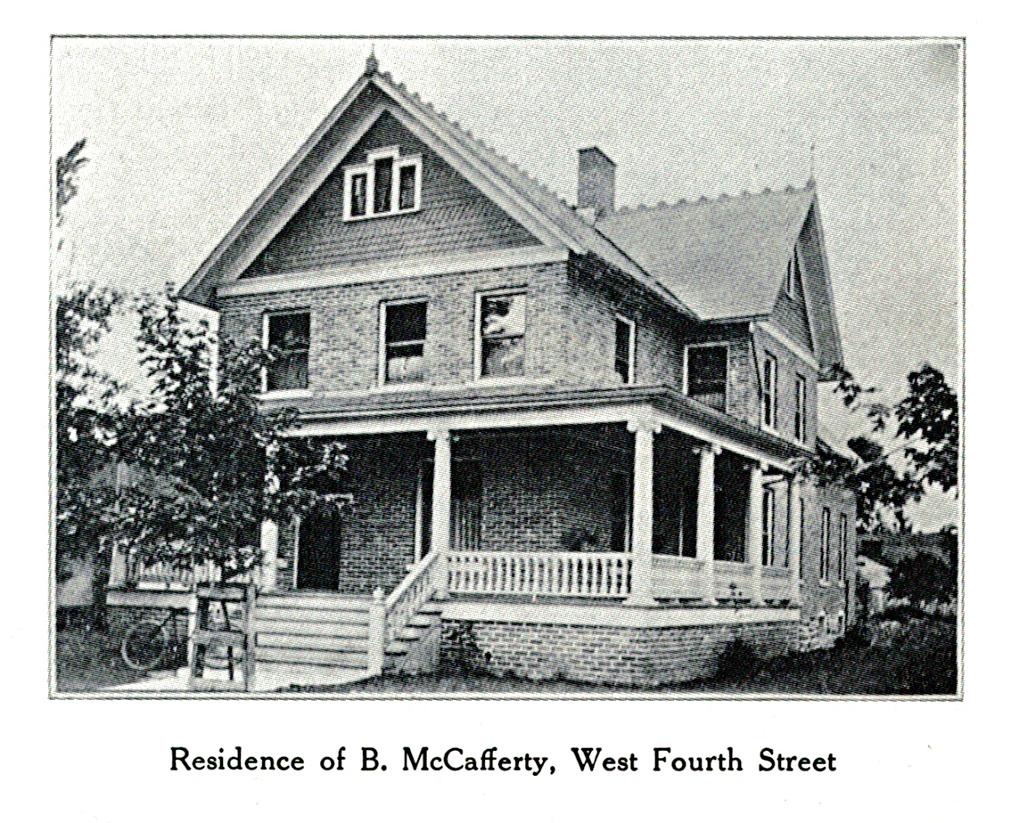 Burton McCafferty House, south and east elevations, 1907