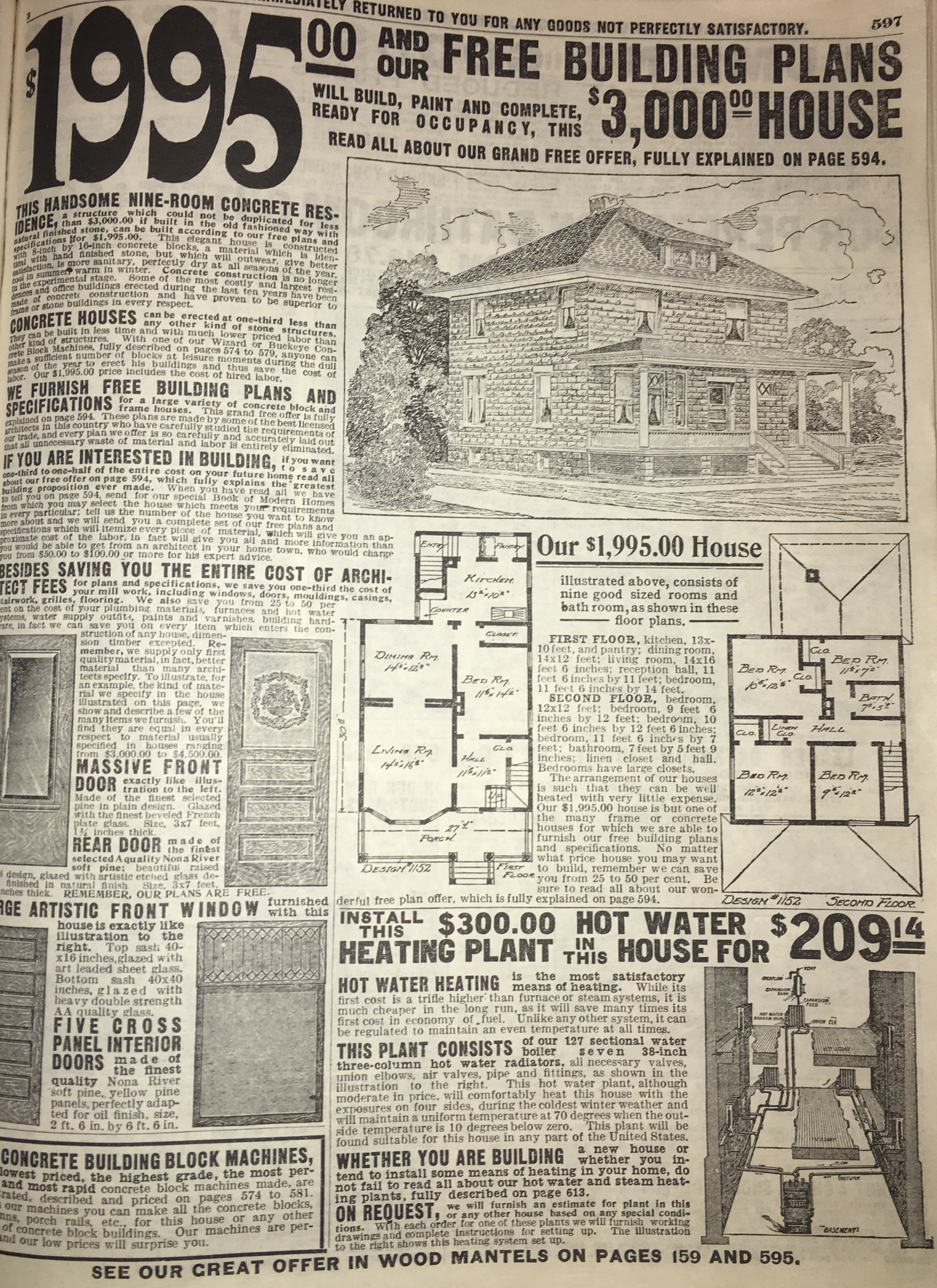 Mail order catalogs, such as Montgomery Ward and Sears and Roebuck, made a wide range of products available to consumers, even houses.
