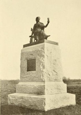 This copper and bronze statue was removed from the park and melted into ammunition in 1942. Clio was one of many monuments and hundreds of historic cannon donated as scrap to the War Salvage Board.