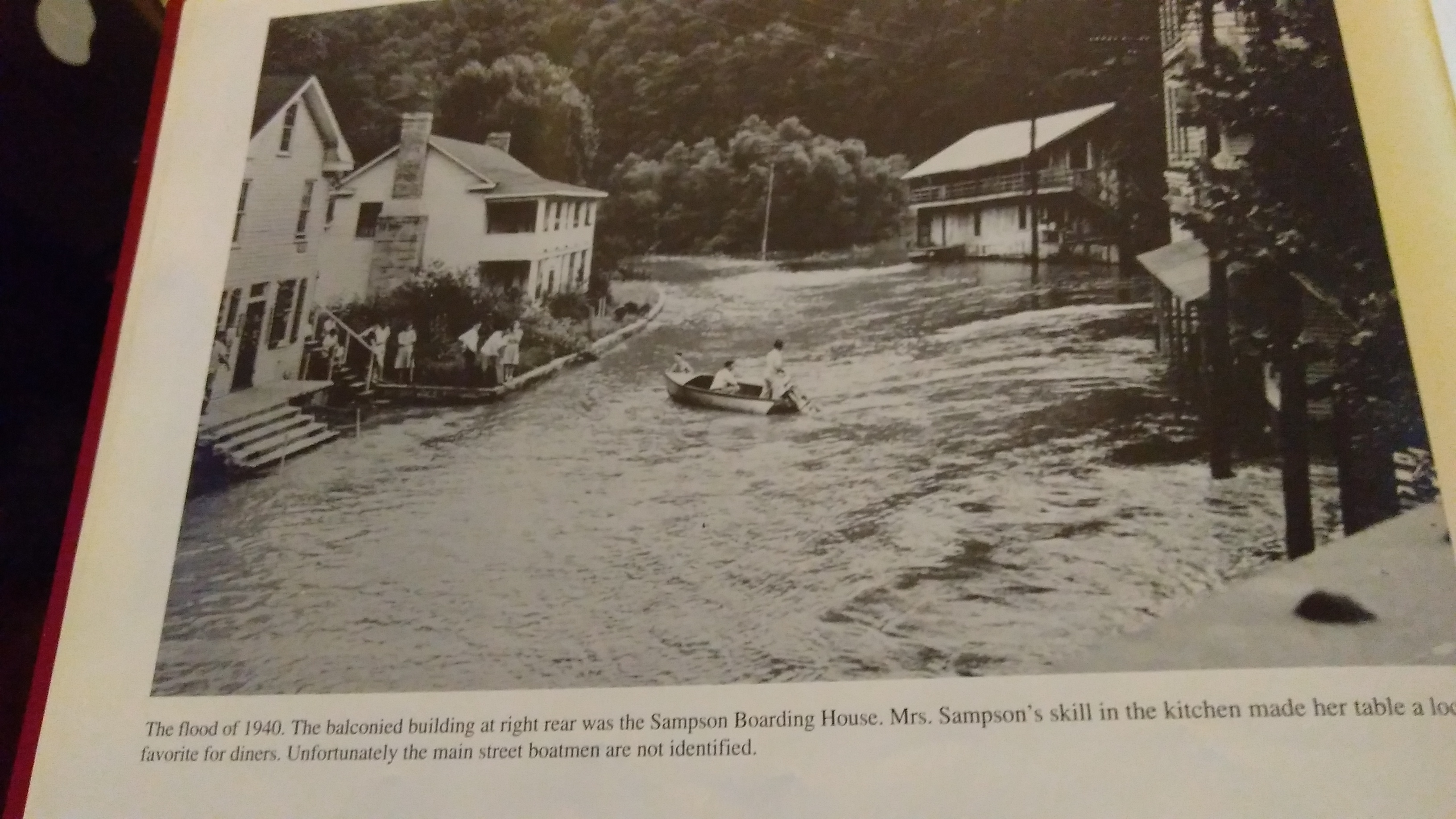 "Photo taken by me from ""A Pictorial History of Gauley Bridge"""