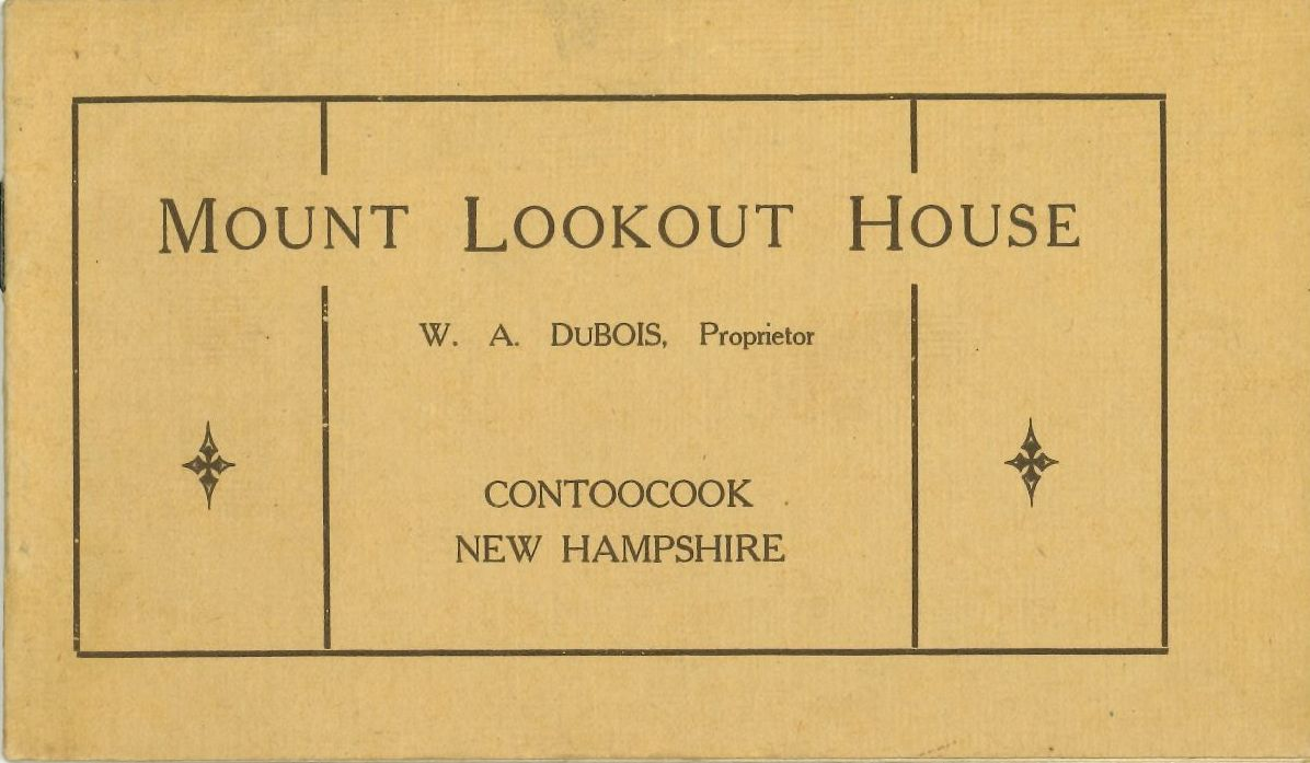 Cover of Mt. Lookout House advertising brochure.