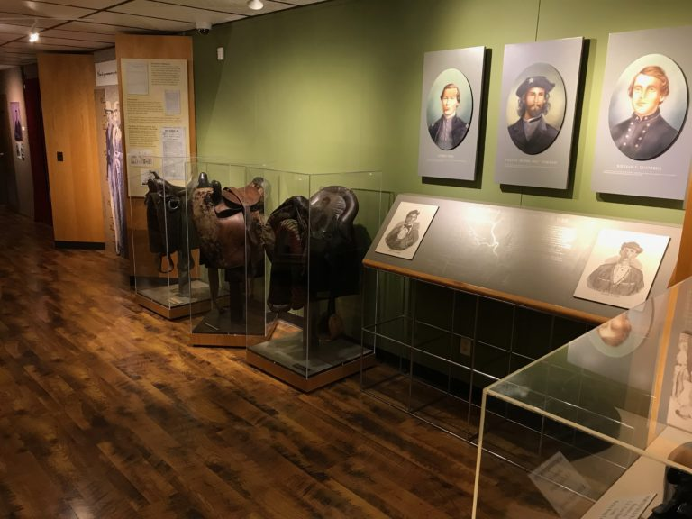 Exhibits at the historic farm museum