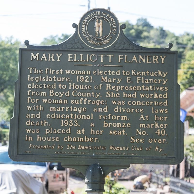 Mary Elliott Flanery Historical Marker