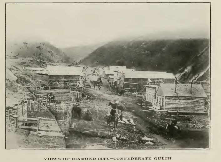 Confederate Gulch circa 1870