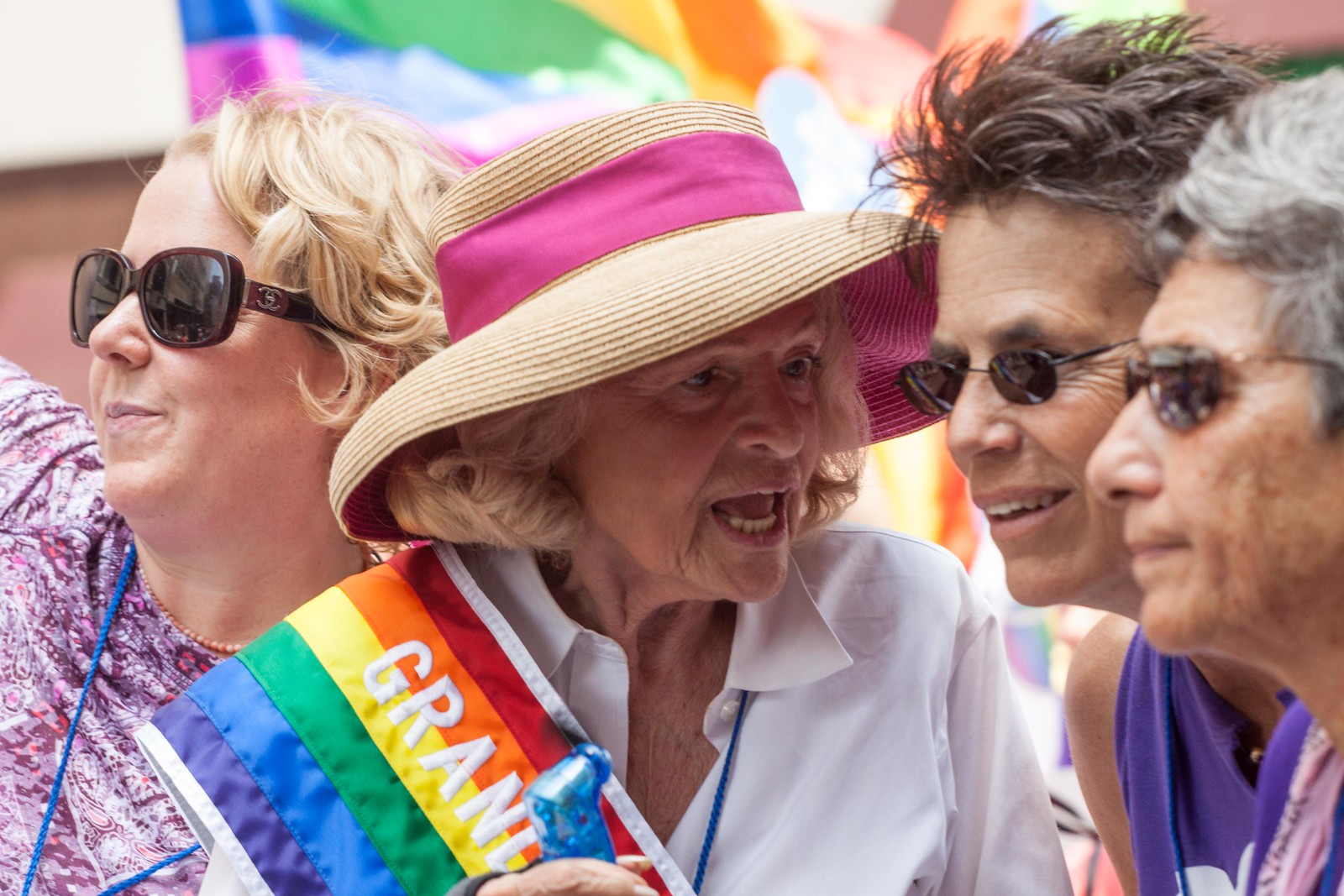 Edith Windsor showing her support at NYC Pride in 2013