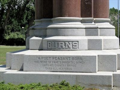 Close up on inscription