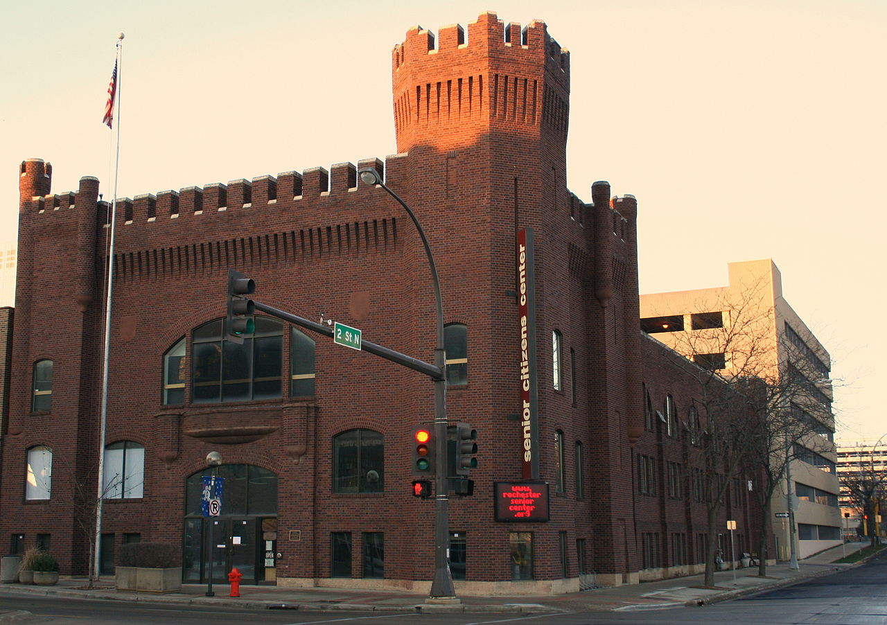The historic Rochester Armory is now a food, cultural, and arts center called Castle Community.