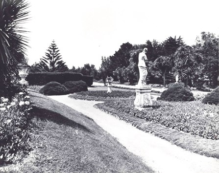 Sutro Heights garden path, c. 1890