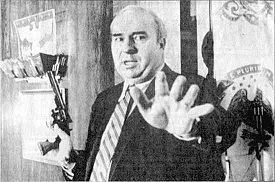 Moments before R Budd Dwyer shoots himself.