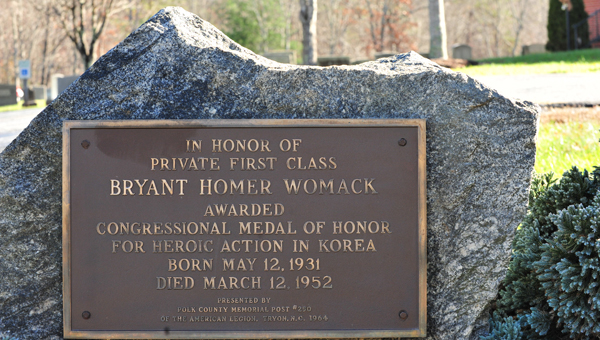 Gravesite of PFC Bryant H. Womack, the North Carolina native and combat medic whom the Womack Army Medical Center is named after