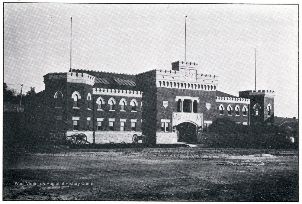 Armory Hall in 1911, shortly after its construction.