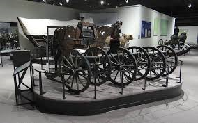 Exhibit in the Frontier Army Museum that shows the transportation and artillery used during that period.