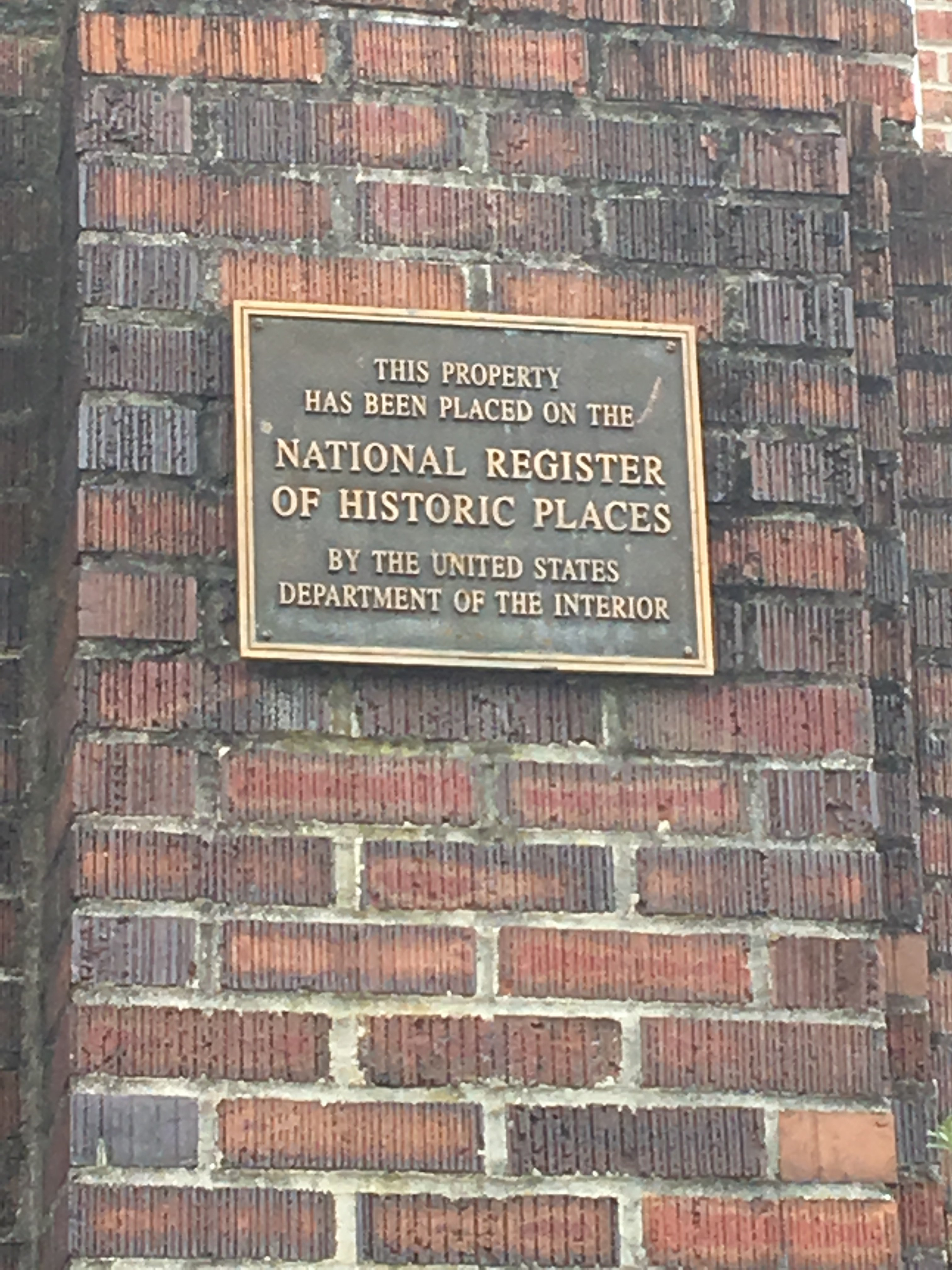"""This property has been placed on the National Register of Historic Places, by the United States Department of the Interior."""