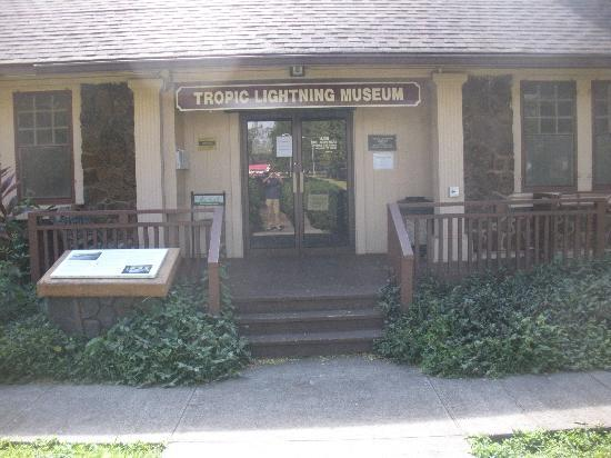 Entrance of the Tropic Lightning Museum