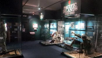 Exhibit of the Tropic Lightning Museum displaying the history of the 25th Infantry Division.