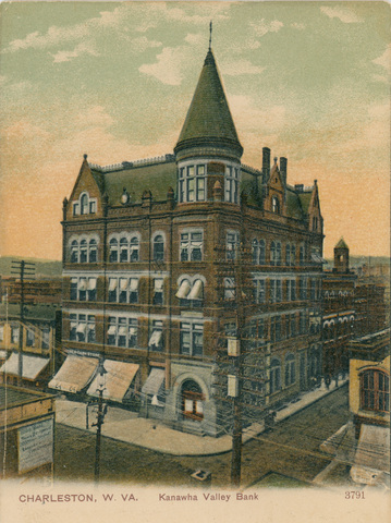 The second structure that housed the Kanawha Valley Bank along Kanawha Boulevard.