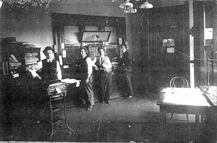 Clerks in ticket office at Tampa Union Station, ca. 1912. Courtesy of Rowe Architects.