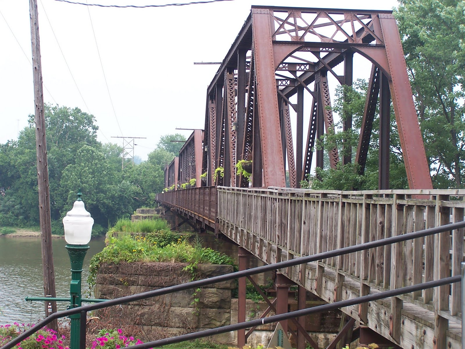 The Harmar Railroad Bridge today.