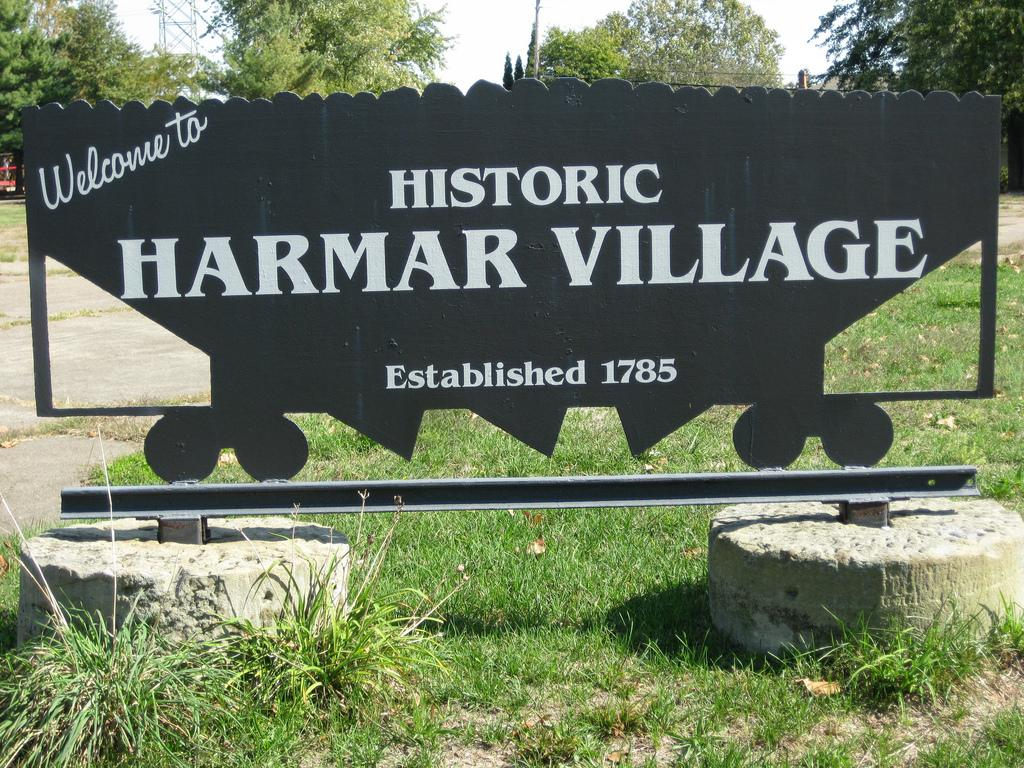 The Harmar Village Sign.