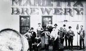 A photo of workers at the Marietta Brewing Company