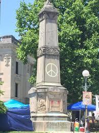 The memorial is the site of regular antiwar demonstrations.