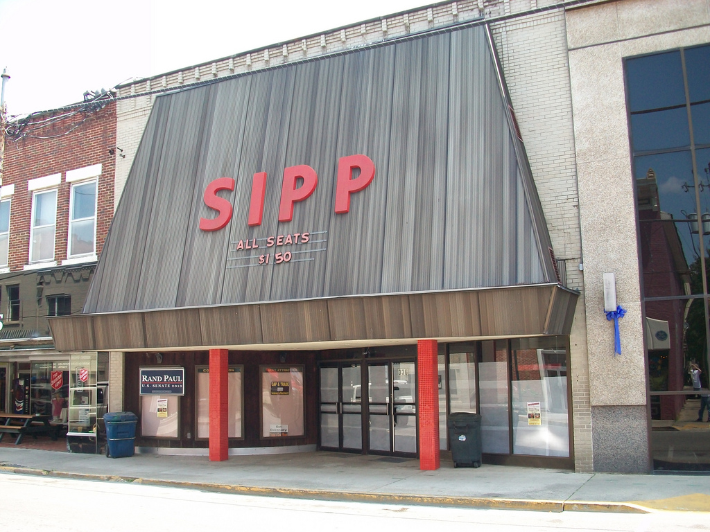 A view of what the Sipp Theatre looked like from opening until recent remodels