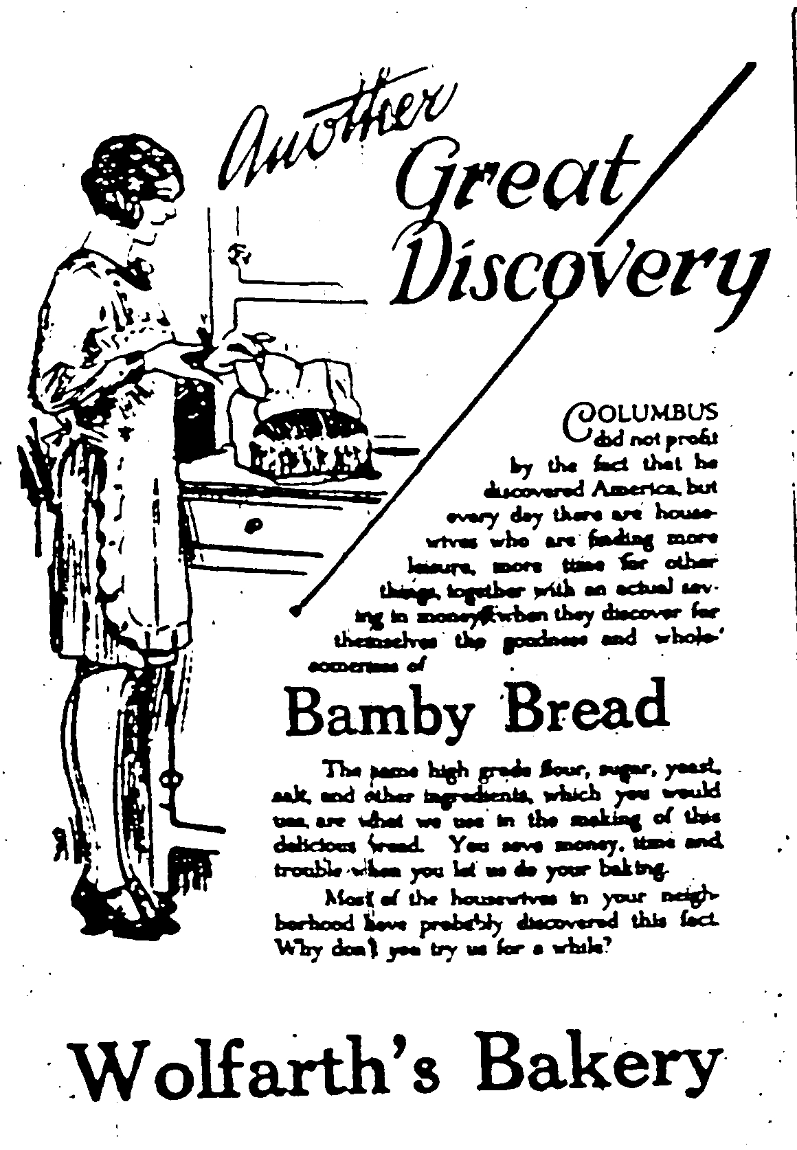 Wolfarth Bakery ad