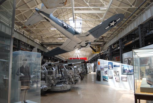 A view inside the World War II exhibit