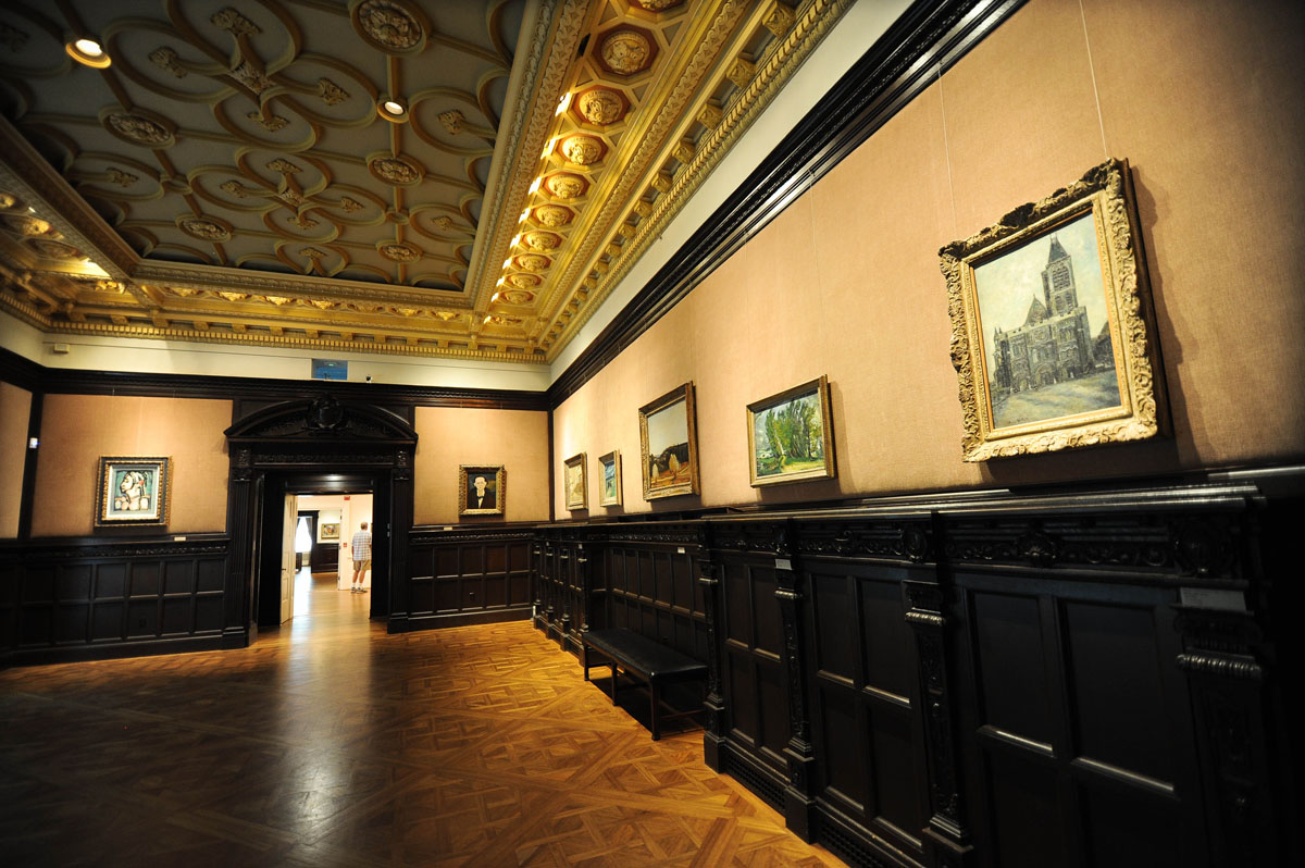 The Music Room with art