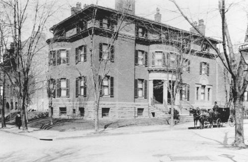 The Phillips House, home to the collection, as seen circa 1900