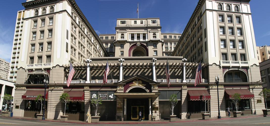 The US Grant Hotel is listed on the National Register of Historic Places and is located in downtown San Diego. It first opened in 1910.