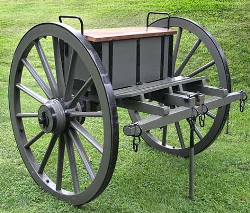 The caisson was sometimes referred to as a limber, and was used to transport artillery rounds and other equipment needed by artillery crew members.
