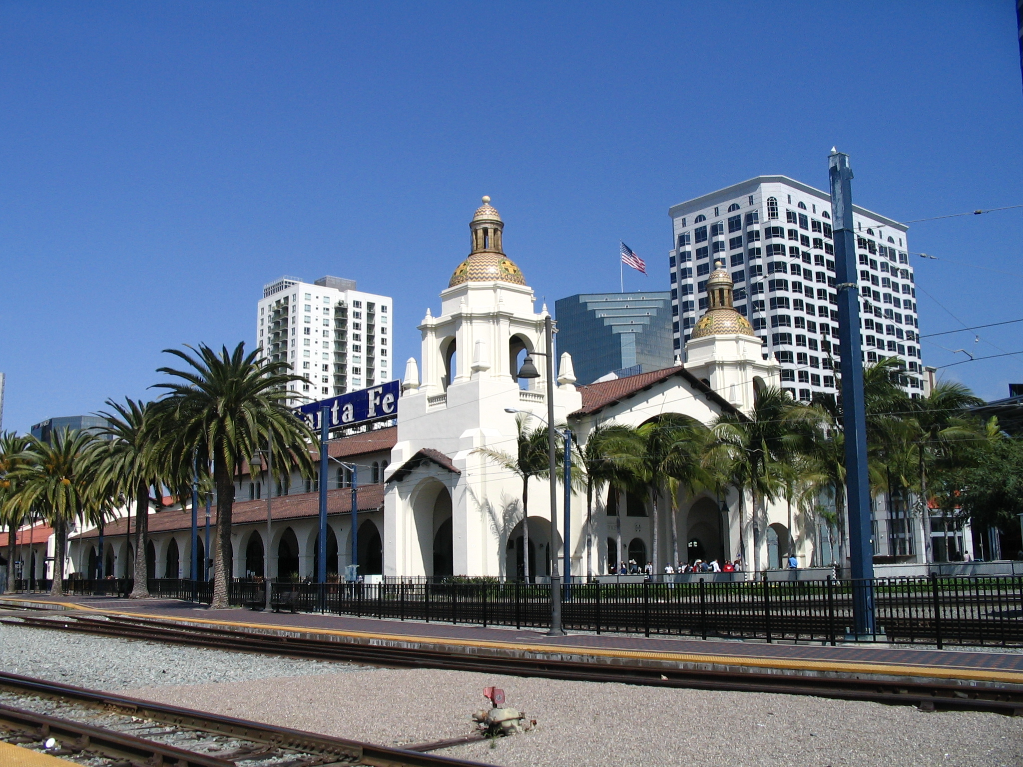 The Santa Fe Depot, which is on the National Register of Historic Places, is one of Amtrak's busiest California stations.